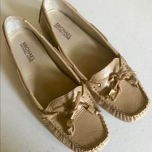 Michael Kors Loafers Moccasins 8 Leather Beige